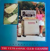Two Ultrasonic Golf Club Cleaning Machines-for Income Producing And Fund Raising