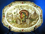 Johnson Brothers His Majesty 20 Turkey Platter Made In England Estate