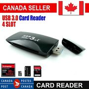 4 Slot Usb 3.0 With Multi Memory Card Reader For Cf Ms Sdxc Micro Sd T-flash Ca