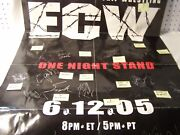 Ecw One Night Stand 61205 Poster Signed By 19 W/coa Taz Balls Big Show