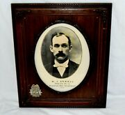 1903 Firehouse Pendleton Fire Department Sterling Silver Badge Gelatin Photo