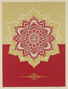 Shepard Fairey Obey Giant Holiday Gift Mandalla Ornament Art Print Signed