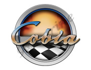 Cobia Old Style Racing Boat Round Sticker - Name Plate