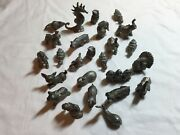 Vintage 1980's Spoontiques Pewter Figurine Collection 25 Animals Free Shipping