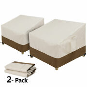 2pcs Patio Chair Covers Deep Seat Cover 600d Waterproof Outdoor Furniture Cover