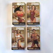 Set Of 4 The Firm Parts Vhs Tapes Sculpt Legs Tough Tape 2 Upper Body 5-day Abs