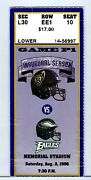 Baltimore Ray Lewis Ravens And Ogden's First Pro Nfl Game Ticket Stub 1996 Eagles
