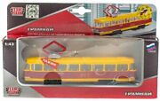Toy Tram Collectable Metal Model With Inertial Mechanism, Light And Sound