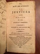 Rare 1810 Tennessee Justices Of The Peace, Haywood, Laws Sheriffs, Nashville, Tn