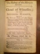 Rare 1747 History Of Martyrs, Thomas Mall, Early Colonial Boston Imprint Leather