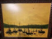Danny Garcia Oil Painting Of Ships 36x46