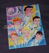 Lost In Space Tv Rare Signed Photo By Artist Bob Bentovoja Mint Rare Caricature