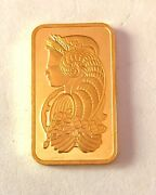 In Stock---1 Ounce Pamp Suisse Lady Fortuna 999.9 Fine Gold Bar.ships A.s.a.p