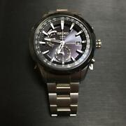 Seiko Astron Sbxa003 Date Box World Time Gps Solar Mens Watch Authentic Working