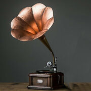 Retro Gramophone Phonograph Model Creative Decoration Home House Desk Toy Gift