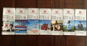 Japan Airlines Timetable 2017-2019 New 7 Booklets Continuously Rare Collectible