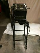 Antique Burroughs Visible Adding Machine Beveled Glass W/ Stand - Local Pick-up