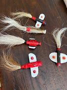 4 Vintage Unbranded Metal Airplane Jigs/decoys Fishing Trout Lures Ely Mn