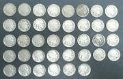 1913 - 1938 5c Indian Head Buffalo Nickel Near Complete Set Total Of 38 Coins