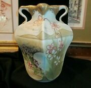 Nippon Hand Painted 19111921 Mark Fancy 8 Vase Collectible Oriental Asian