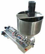 Thick Paste Fill Filling Machine Mix Stir Rotate Bottle Pack Seal 50-500ml 110v