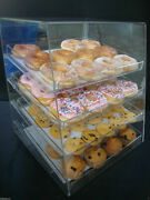305displays Acrylic Case W/4 Trays Pastry Bakery Donut Bagels Cookie
