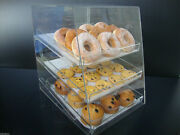 305displays Acrylic Case W/3 Trays Pastry Bakery Donut Bagels Cookie