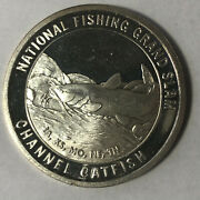 Channel Catfish North American Fishing Club 1 Ounce .999 Silver Round Sr86