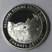 Channel Catfish North American Fishing Club 1 Ounce .999 Silver Round Sr90