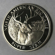 Whitetail Deer North American Hunting Club 1 Ounce .999 Silver Round Sr97
