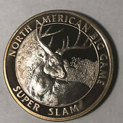 Whitetail Deer North American Hunting Club 1 Ounce .999 Silver Round Sr105