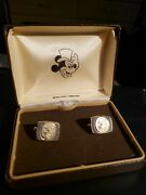 Walt Disney Productions Mickey Mouse Top Hat Cuff Links In Original Box Vintage