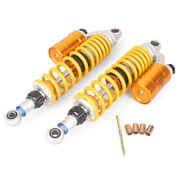 Rear Air Shock Absorber Suspension Sping Bag Damper Yellow 360mm 14' Motorcycle