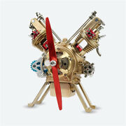 Teching All-metal Assembled V2 Twin-cylinder Engine Model Building Kits
