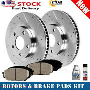 For 95-05 Cavalier Sunfire 2 Front Brake Rotors And Ceramic Pads 6pcs Kit