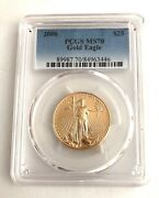 2006 Pcgs Ms70 25 Gold Eagle- See Other Gold Coins