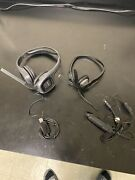 Lot Of 2 Plantronics 1 Audio 630m And 1 655 Dsp Usb Stereo Pc Headsets