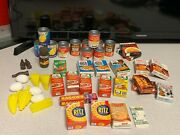Vintage Doll Advertising Commercial Groceries Food Cans Boxes Miniature