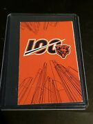 2019 Chicago Bears Pocket Schedule Nfl 100th Year Celebration Football
