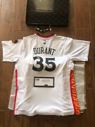 Kevin Durant Signed Warriors White Jersey Chinese New Year Tribute Panini Coa