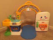 Fisher-price Laugh And Learn Learning Kitchen Playhouse Sounds Lights Rare Htf