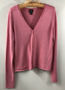 Eileen Fisher Button Down Cardigan Sweater S Spink Soft Stretch V Neck