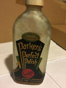 1933 Parkers Perfect Polish Concentrate Bottle Original Paper Label Advertising