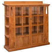 Crafters And Weavers Mission Double Door Bookcase W/ Shelves Michaeland039s Cherry Mc1