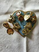 Vintage Wotm Woman Of The Moose Charms And Pins - Free Shipping