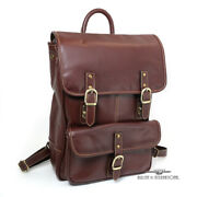 Chester Square Weather Treated Leather Laptop Rucksack - Original Retail 365