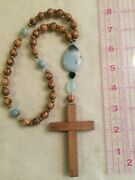 Anglican Rosary Handmade In Oregon With Amazonite, And Olive Wood From Jerusalem