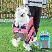 Dog Carrier Backpack Large Pink Blue Small Dog Chihuahua Pug Travel Carrier Bag
