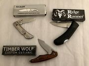Knives Folding Assorted, Lot Of 3 Old But New 15 Yrs In Storage, Pocket Carry