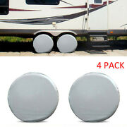 4x Wheel Tire Tyre Protective Cover Waterproof For Rv Trailer Car Truck 27-29